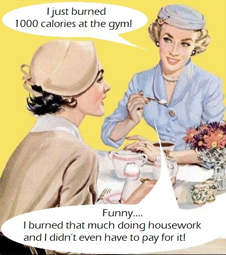 Mom Mondays - Burn calories doing housework!