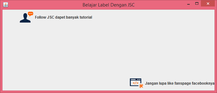 Gambar 4 - jLabel Pada Komponen Swing Di Java