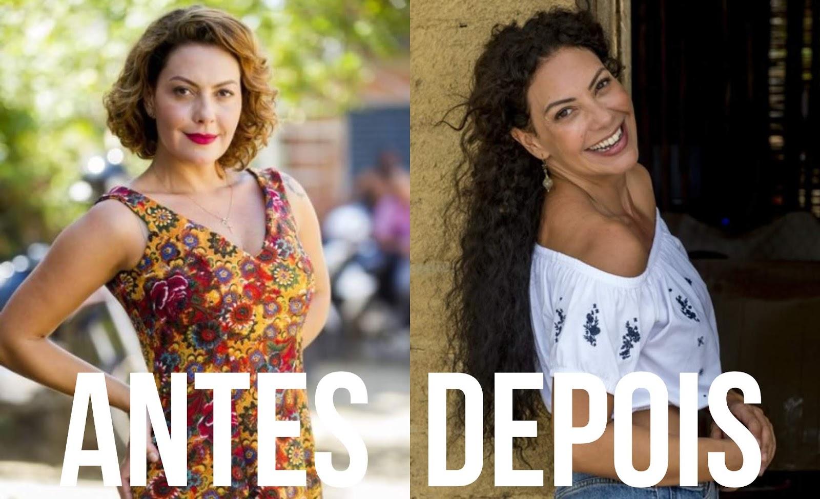 ANTES X DEPOIS: CABELOS DAS ATRIZES DA NOVELA ' SEGUNDO SOL'