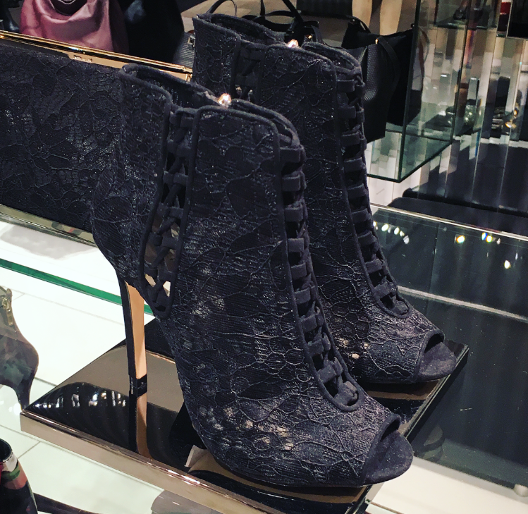 karen millen Lace Booties