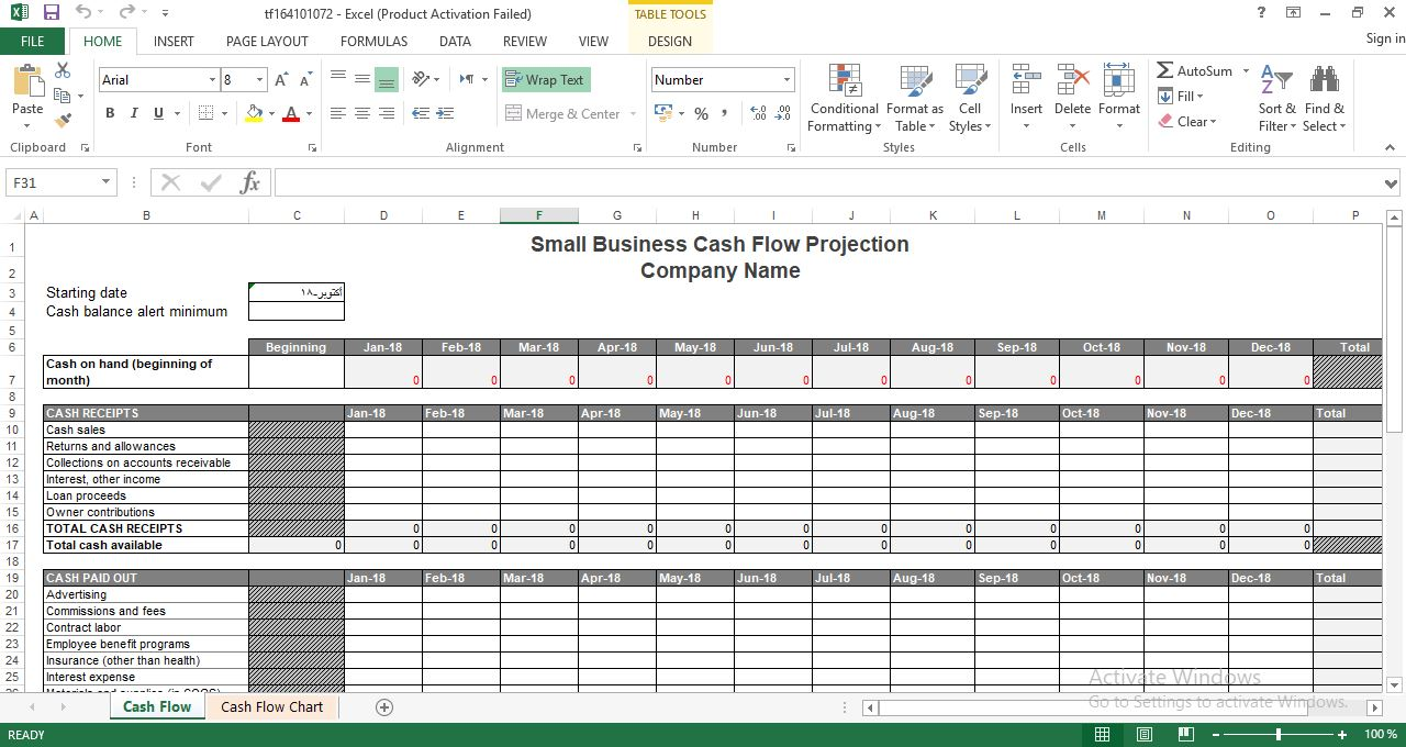 Small business cash flow projection engineering management small business cash flow projection cheaphphosting Images