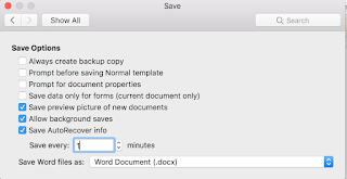 Microsoft word For mac 2016 autosave