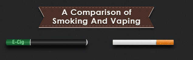 The cost comparison between smoking and vaping