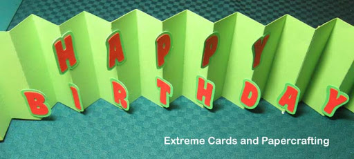 accordion fold card in a box, flag book style letters