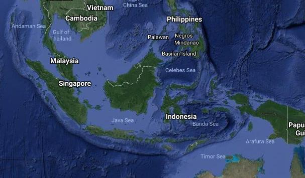 Peta Asia Tenggara Lengkap Jelas Asean Google Maps Selatan Oleh