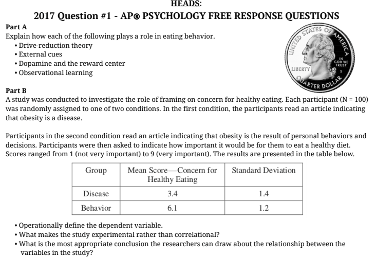 AP Psychology with Mr  Duez: April 2018