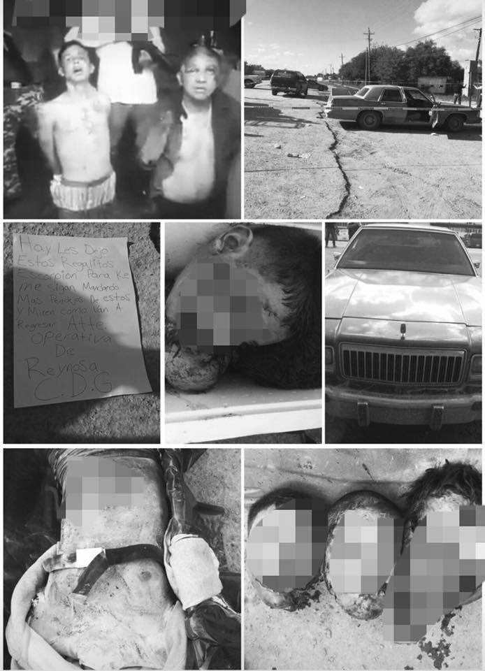 """FOTOS: SICARIOS DE LOS """"ESCORPIONES"""" QUE FUERON ABLIGADOS A BESARSE EN UN VIDEO, SON LOCALIZADOS DECAPITADOS EN RIO BRAVO, TAMAULIPAS"""