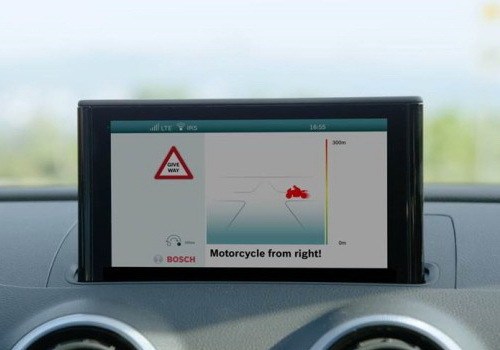 www.Tinuku.com Bosch developed digital shield to prevent road accidents