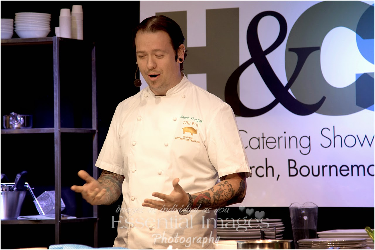 James Golding food demonstration at the BIC