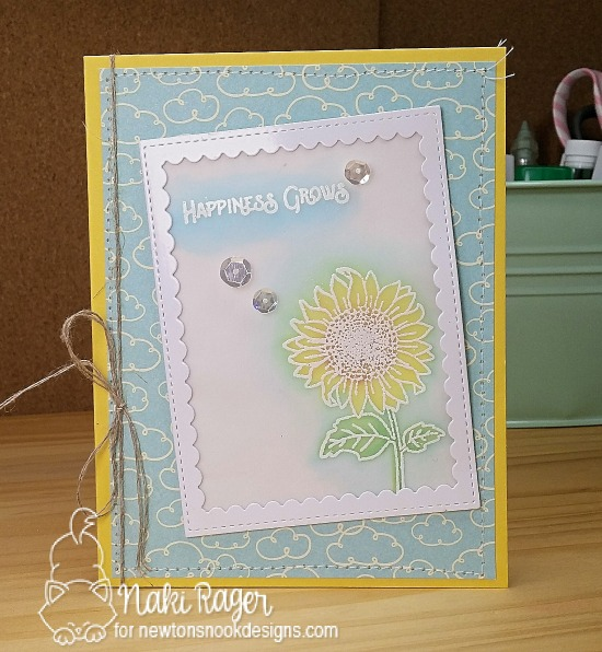 Happiness Grows Card by Naki Rager | Flower Garden Stamp set by Newton's Nook Designs #newtonsnook