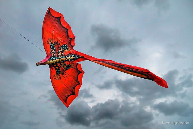 летящий воздушный змей