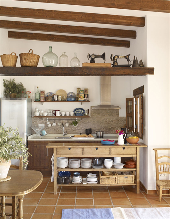Modern rustic kitchen. Photo via IKEA Family live.