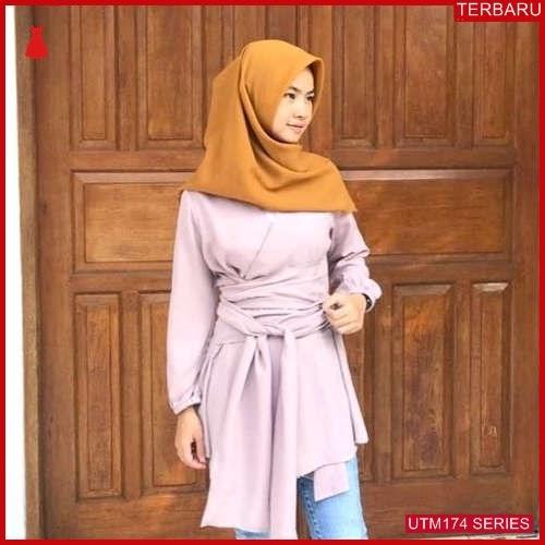 UTM174T68 Baju Tiva Muslim Kimono UTM174T68 0AE   Terbaru BMGShop