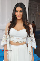 Telugu Actress Amyra Dastur Stills in White Skirt and Blouse at Anandi Indira Production LLP Production no 1 Opening  0042.JPG
