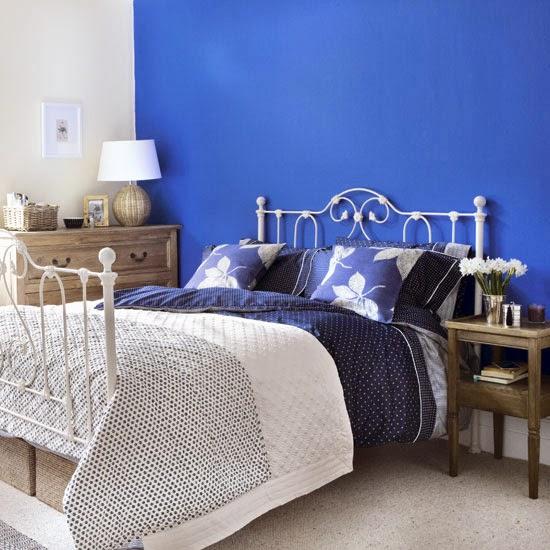 Habitaciones matrimoniales color azul  Ideas para decorar