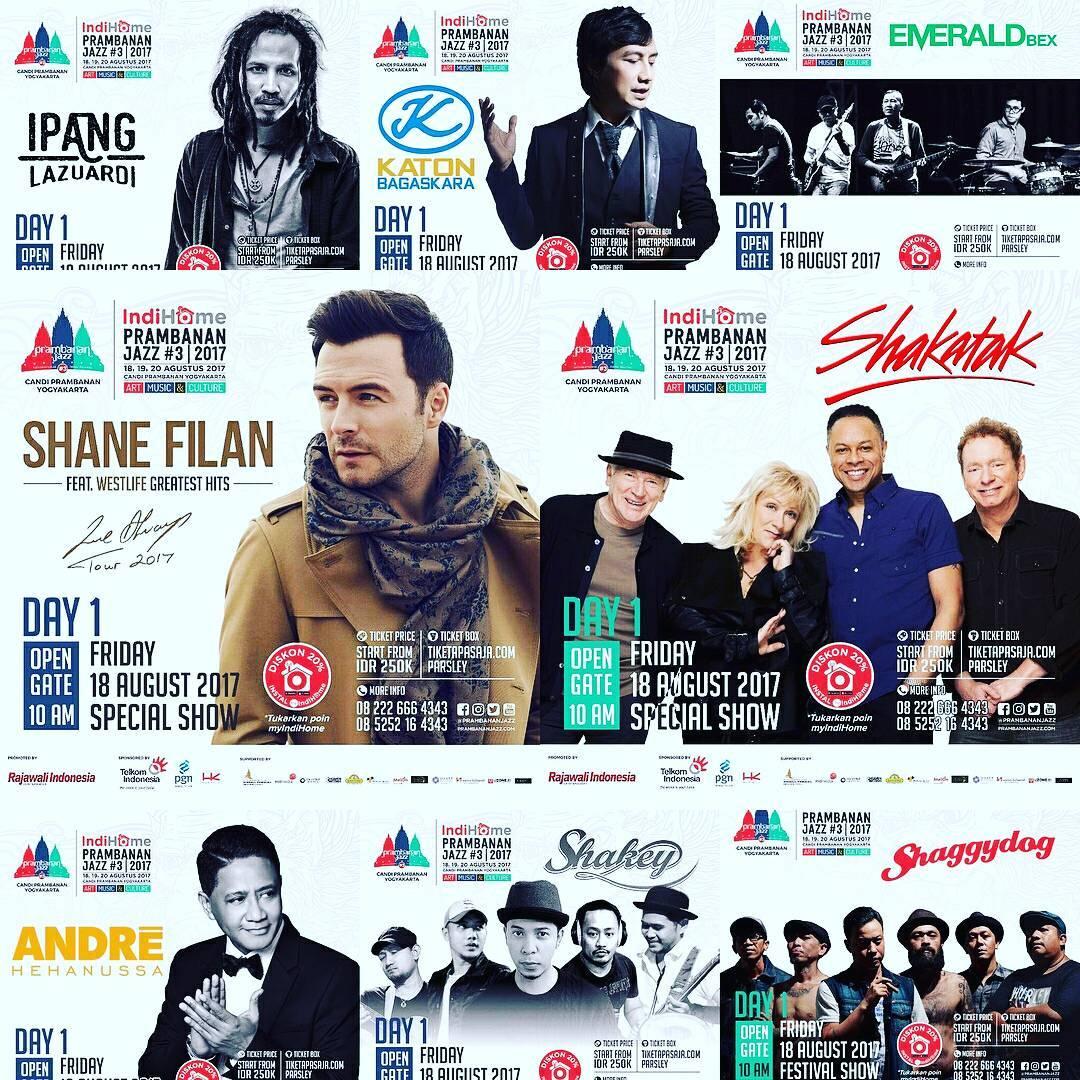 Para Artis penampil Prambanan Jazz 2017