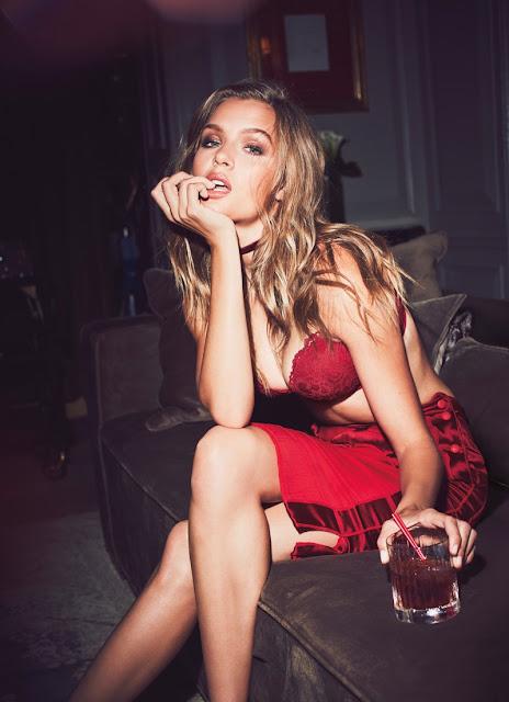 Josephine Skriver models Victoria's Secret Very Sexy Push-Up Bra