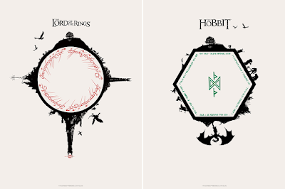 The Hobbit & The Lord of the Rings Timed Edition Screen Prints by Matt Ferguson x Bottleneck Gallery