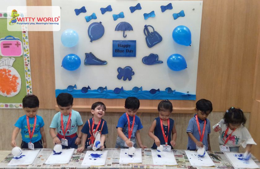 On the top of the World   : Blue Day Celebration by Playgroup