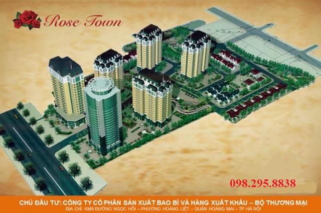 Phối cảnh dự án Rose Town