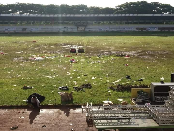 Innalillahi... Begini Kondisi Miris Stadion Maulana Yusuf Usai Kampanye 01
