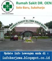 Lowongan Kerja Rumah Sakit DR. OEN Solo Baru, Sukoharjo