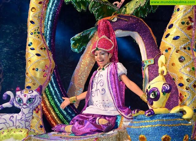 Elena Pérez Perestelo, Reina del Carnaval Infantil de La Selva de Los Llanos de Aridane 2018