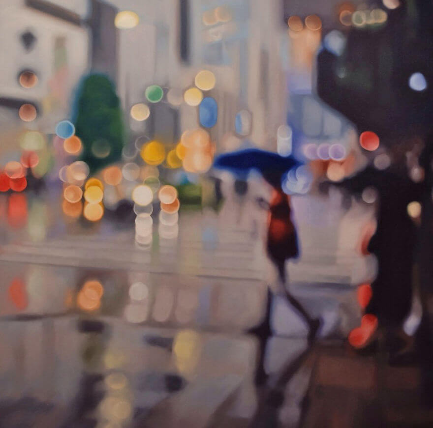 29 Vivid Oil Paintings Depict How People With Poor Eyesight See The World Without Their Glasses