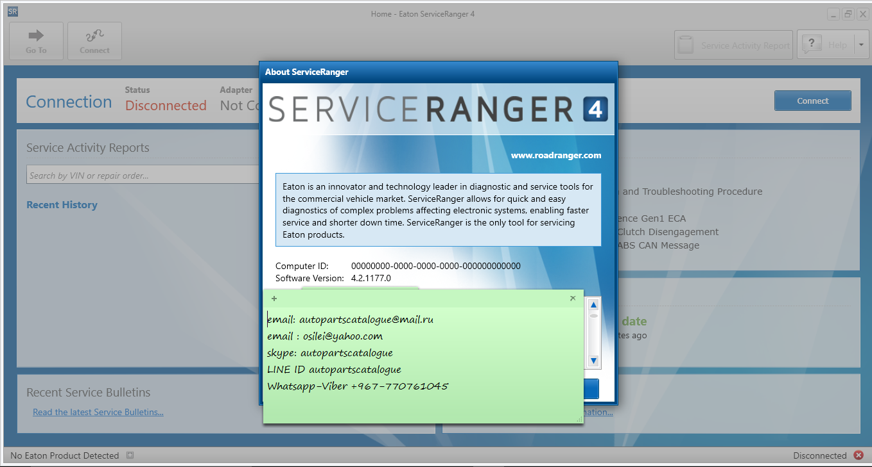 EATON Serviceranger 4 | Eaton Roadranger Diagnostic Software