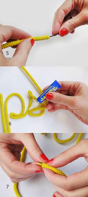 palabras, cuerdas, manualidades, diys, palabras con cuerda, técnicas