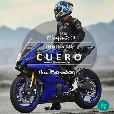 imagen trajes  de cuero para motociclista