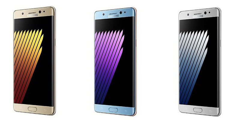 Side view of Samsung Galaxy Note 7