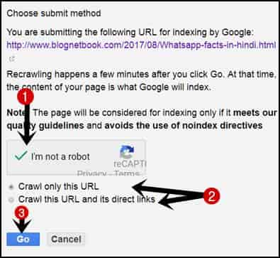 Submit Blog Post URL On Fatech As Google