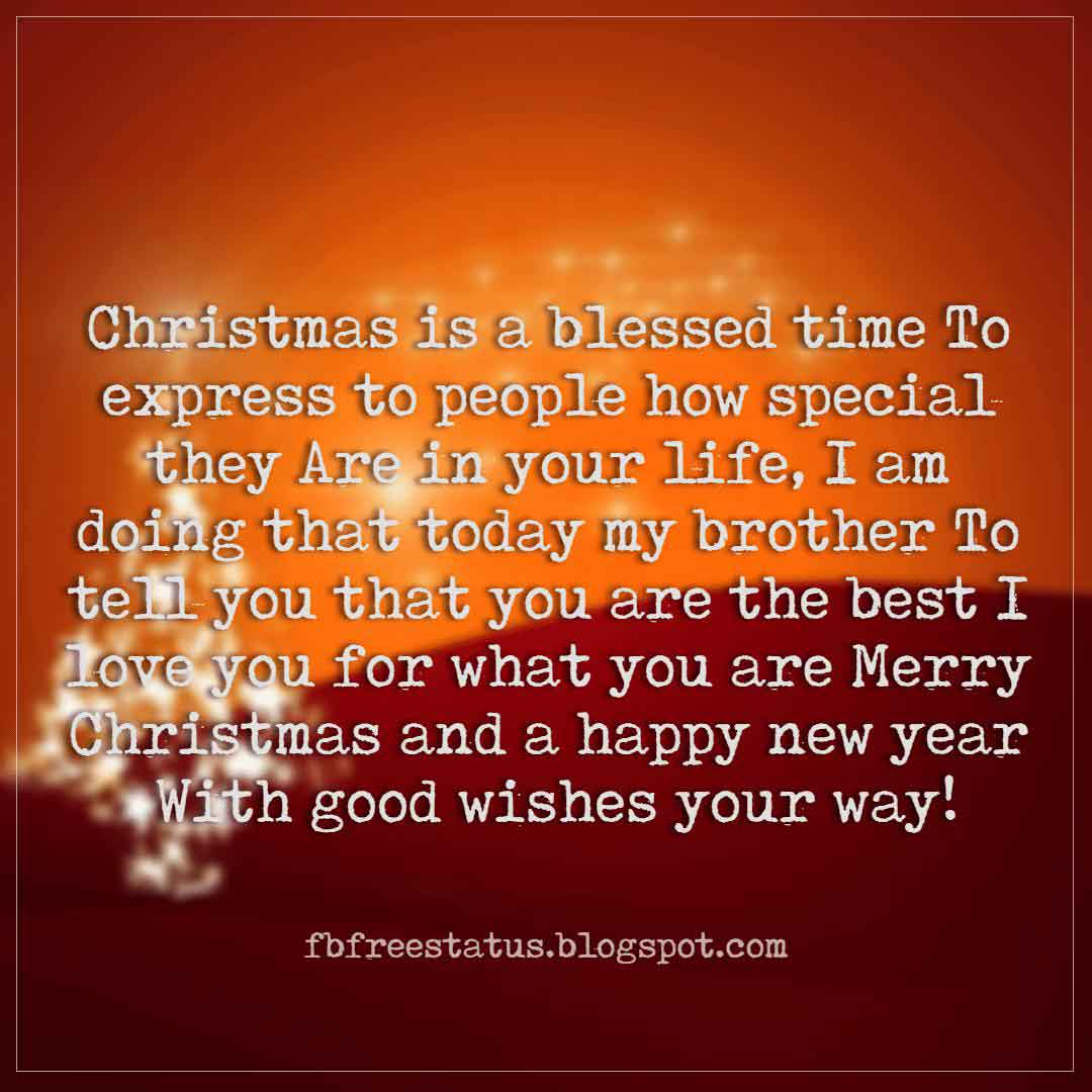Christmas Wishes Text For Brother