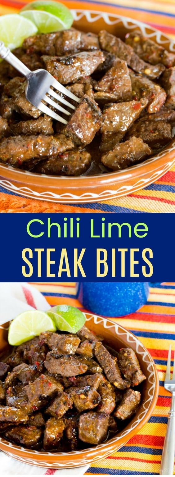 Chili Lime Steak Bites