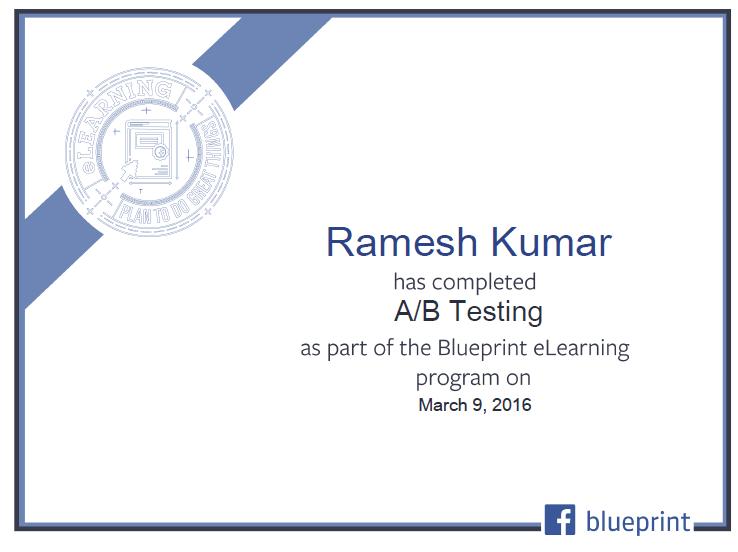Facebook PPC Certificate