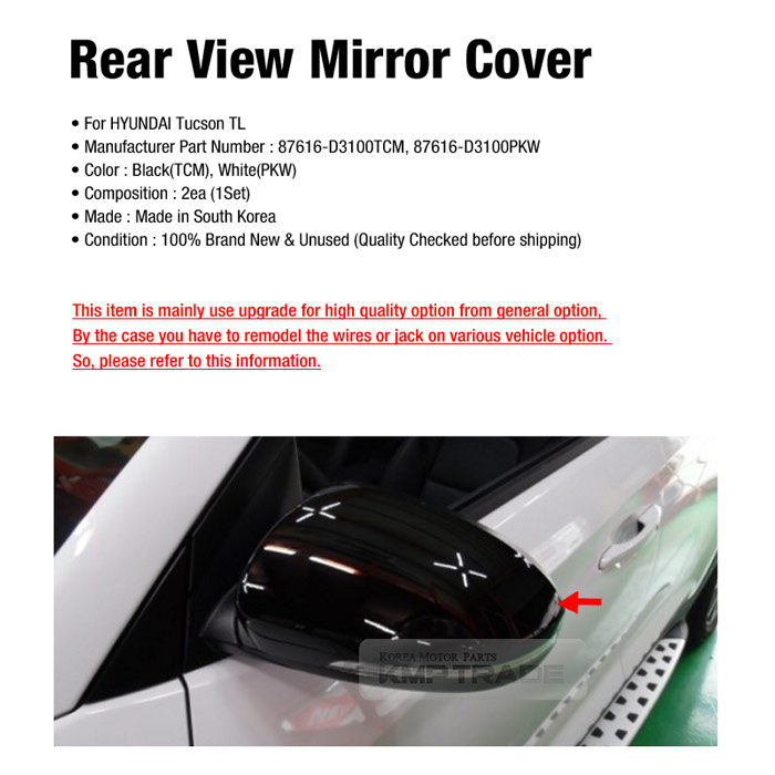 OEM Front Scalp Outside Rear View Mirror Cover LH RH For HYUNDAI 2016 Tucson TL