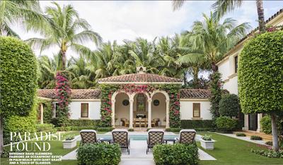 David Kleinberg Design in Palm Beach interior courtyard