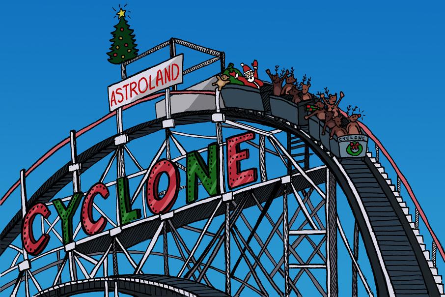 Coney Island Christmas.Hans My Hedgehog Illustrations Christmas On Coney Island