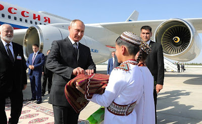 Vladimir Putin arrived in Ashgabat with the official visit.