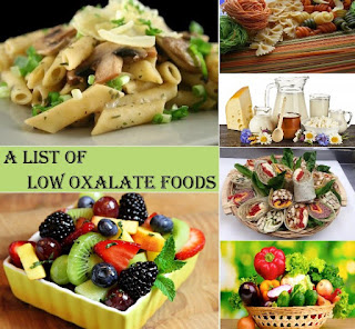 Complete List Of Low Oxalate Foods