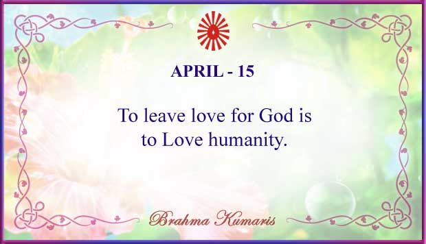 Thought For The Day April 15