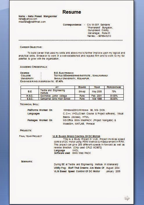 matrimonial%2Bresume%2Bformat Resume Format For Experienced Engineer on