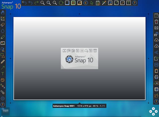أداة مثالية لتسجيل الشاشة إما الصور أو الفيديو Ashampoo Snap 10.1.0