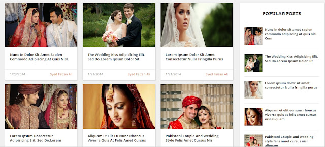 Wedding Mag Blogger Template