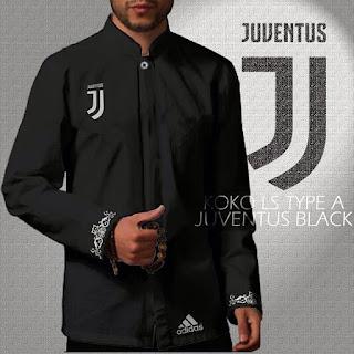 Baju Koko Juventus Hitam Lengan Panjang