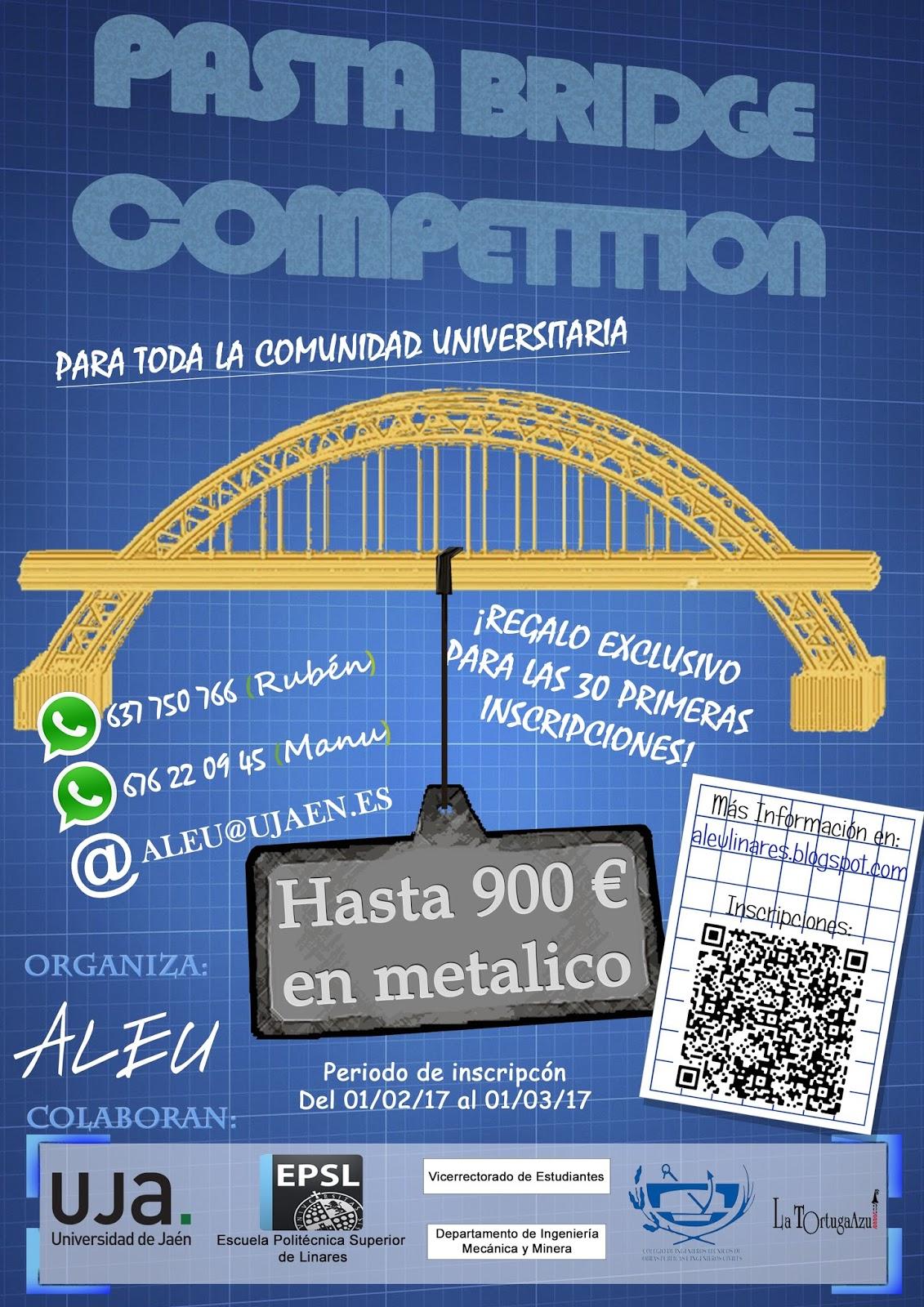 Calendario Ujaen.Aleu Pasta Bridge Competition
