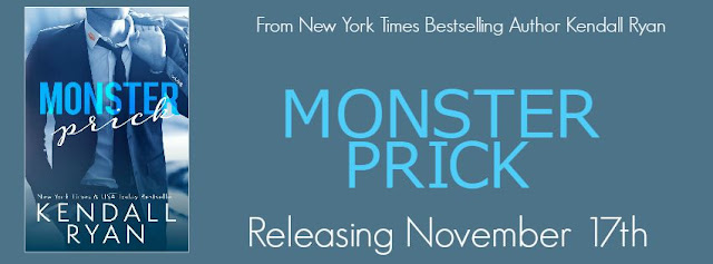 COVER REVEAL – Monster Prick by Kendall Ryan