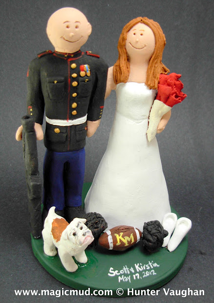 Custom Wedding Cake Toppers Marine' Topper