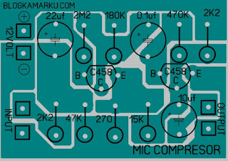 PCB layout Mikrophone Compresor